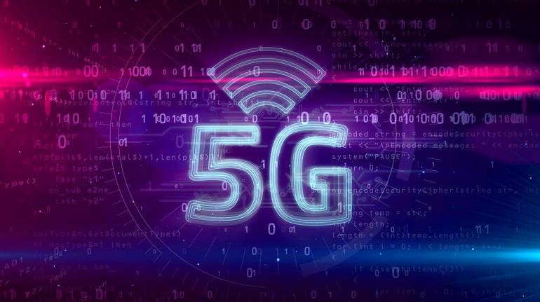 5G 5 generation network mobile symbol hologram