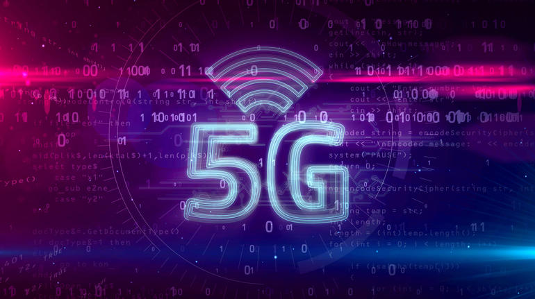 5G 5 generation network mobile symbol hologram