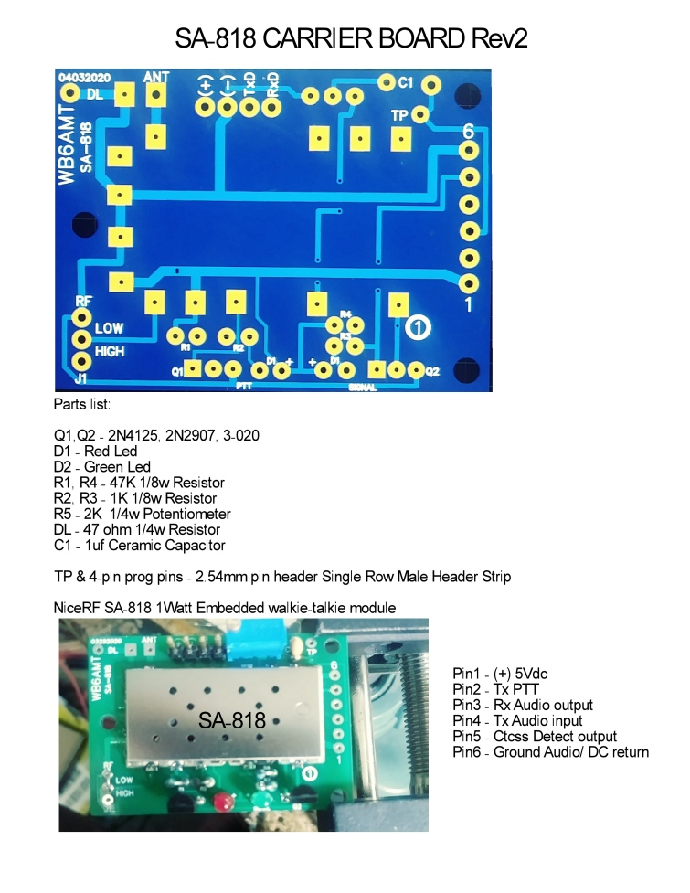 SA-818 Carrier Board