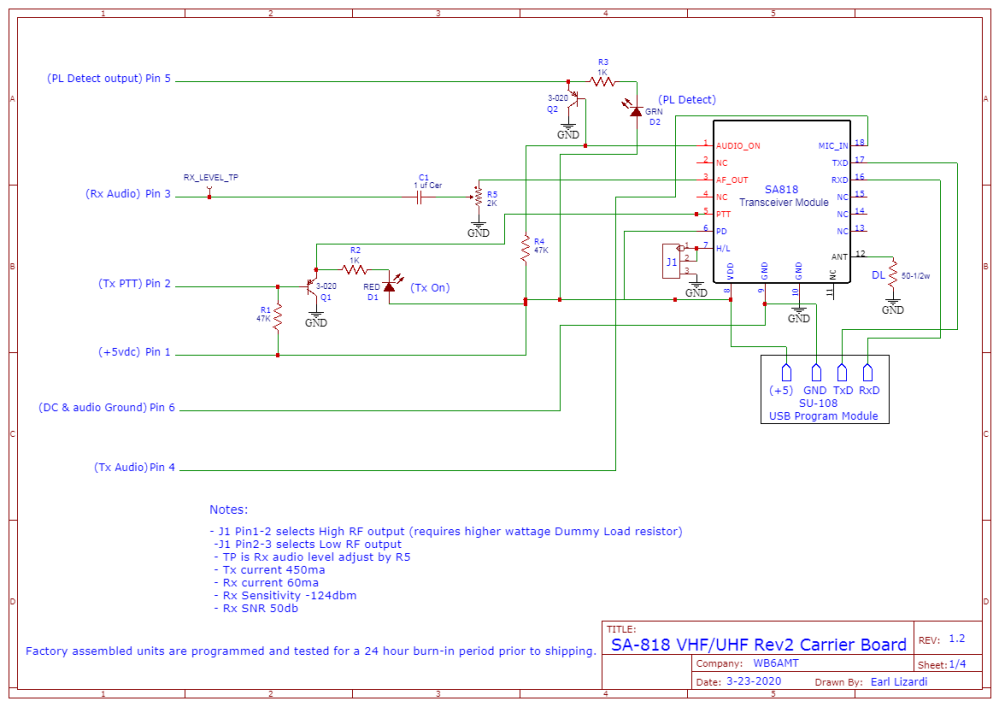 Schematic_SA-818Rev2 Board